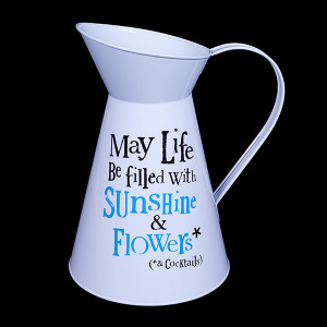 May Life Be Filled With Sunshine & Flowers Jug