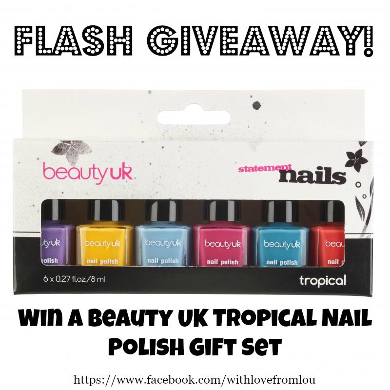 Flash Giveaway - Win a Beauty UK Tropical Nail Polish Gift Set