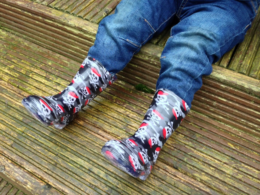 Skull n Cross Bones Wellington Boots