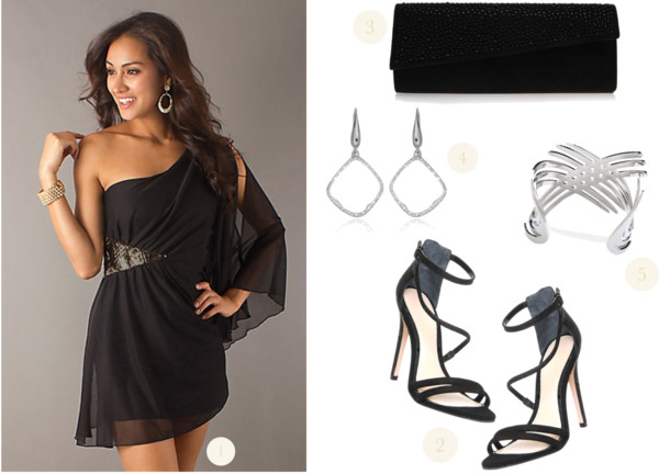 Prom Outfit Idea featuring a Black Cocktail Dress - With love from Lou 5b9f8ef9d