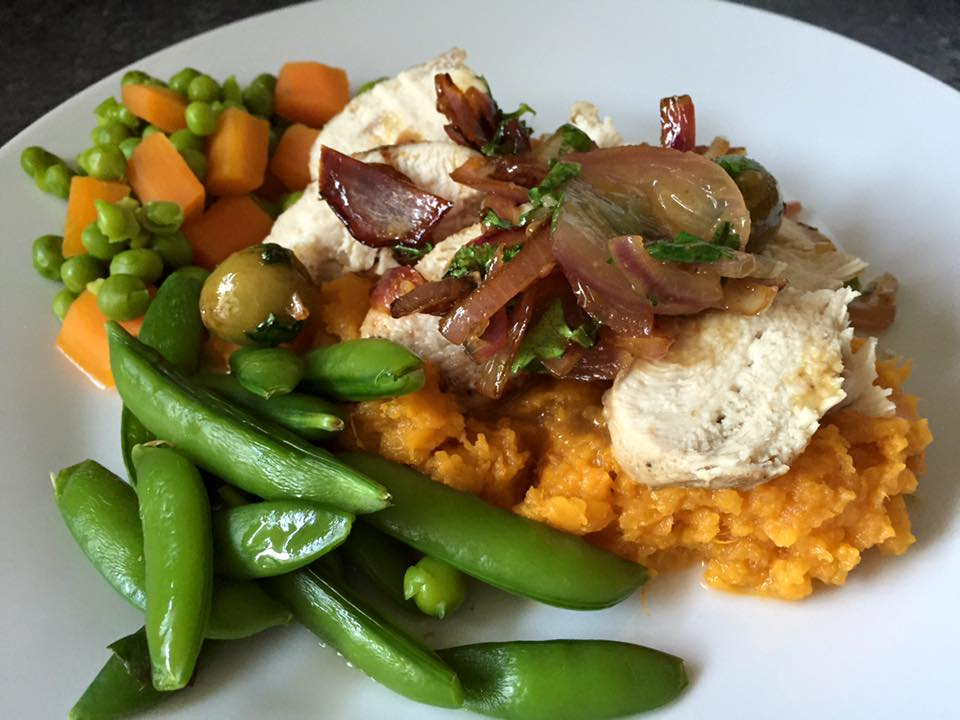 Moroccan chicken with sweet potato mash | Recipe | Sweet Potato Mash ...