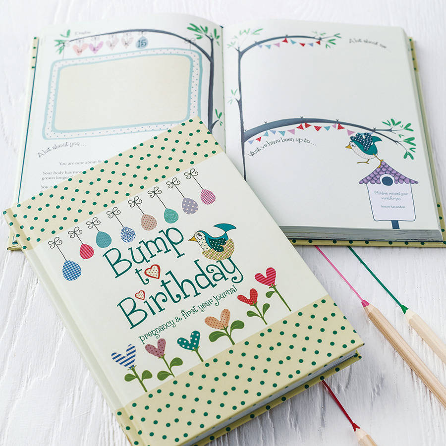 Bump to Birthday Journal - Baby Shower Gift Idea