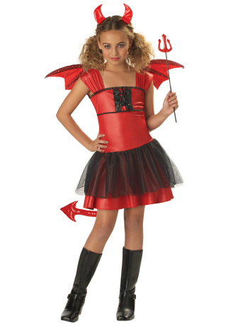 Daring Devil Halloween Costume for Girls