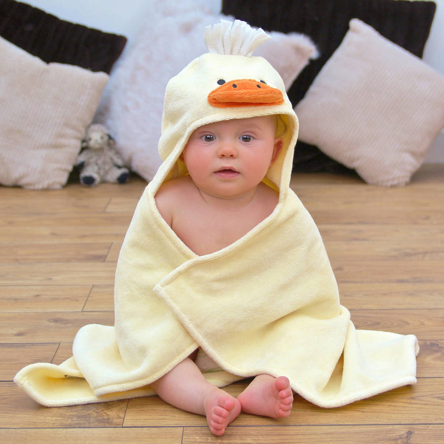 Duck Baby Hooded Towel - Baby Shower Gift Idea
