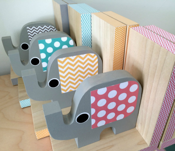 Elephant Book Ends - Baby Shower Gift Idea