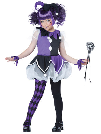 Jester Girl Halloween Costume for Girls