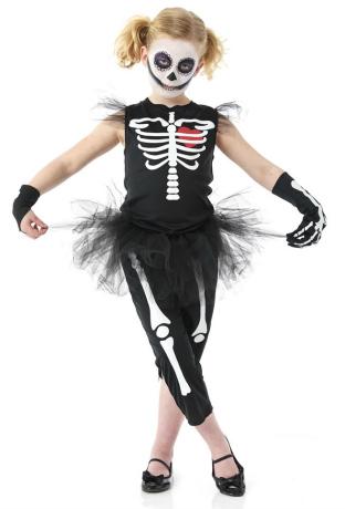 Punky Skeleton Halloween Costume for Girls