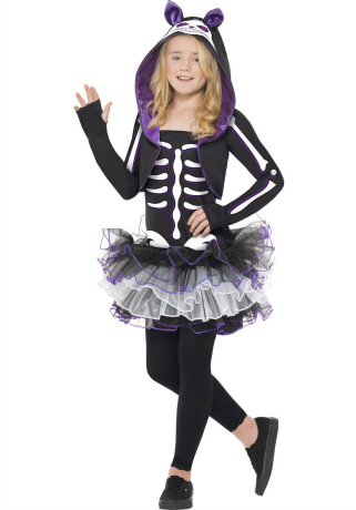 Skelly Cat Halloween Costume for Girls
