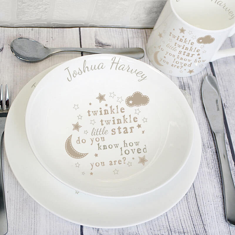 Twinkle Twinkle Breakfast Set - Baby Shower Gift Idea