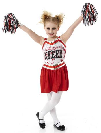 Zombie Cheerleader Halloween Costume for Girls