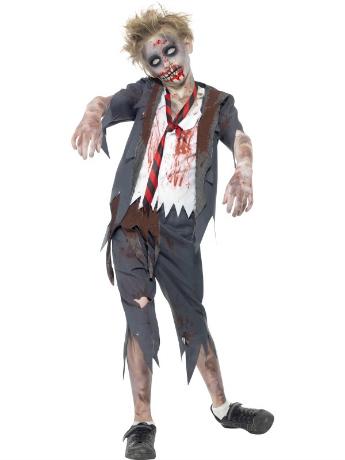 Zombie School Boy Halloween Costume for Boys