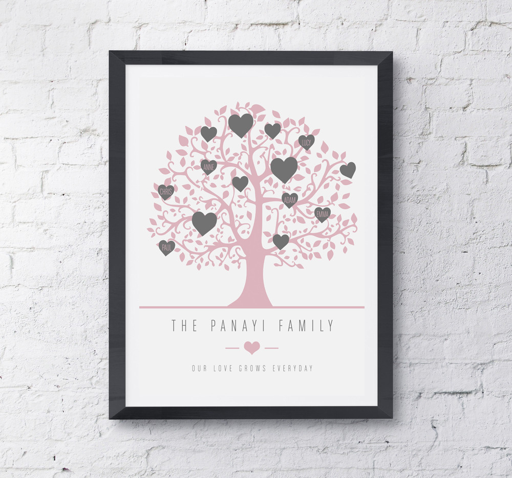 Framed Family Tree - Prints With Feelings
