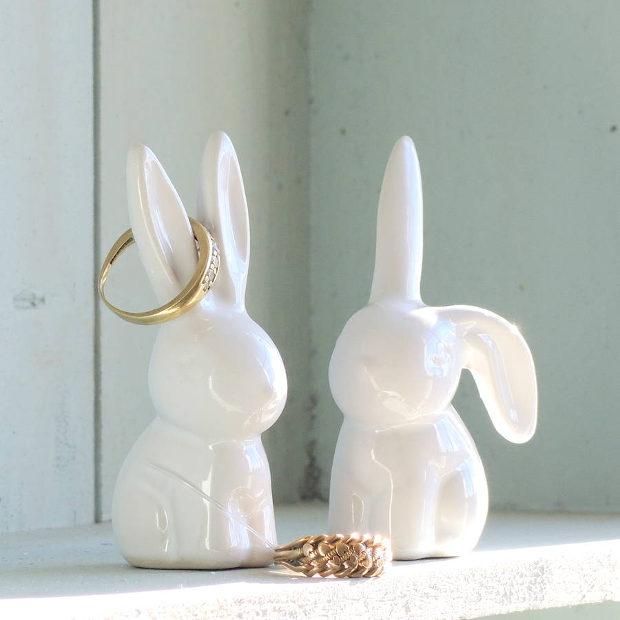 Pair of Bunny Ring Holders - Not on the High Street