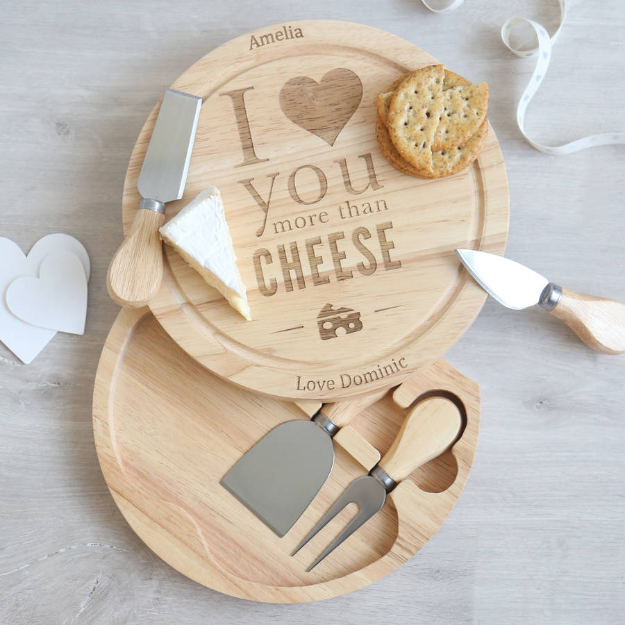 I Love You More Cheeseboard - My 1st Years