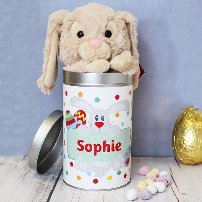 Non chocolate easter gift ideas for girls with love from lou bunny in personalised easter tin born gifted negle Image collections