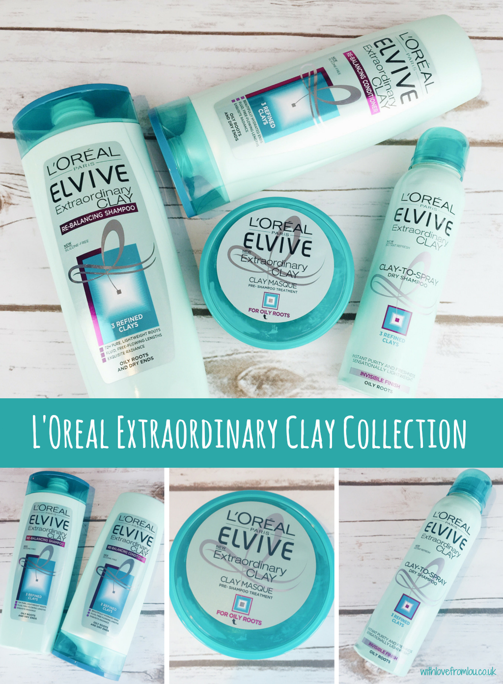 L'Oreal Extraordinary Clay Collection
