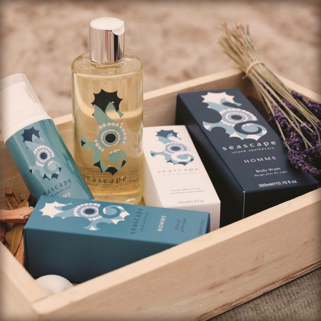 Hamper of Seascape 'Homme' Products - Seascape Island Apothecary