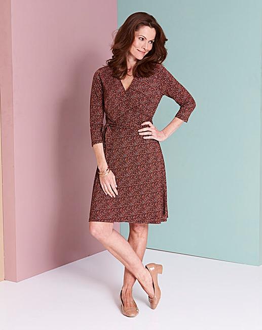 JD Williams Ditsy Print Wrap Dress