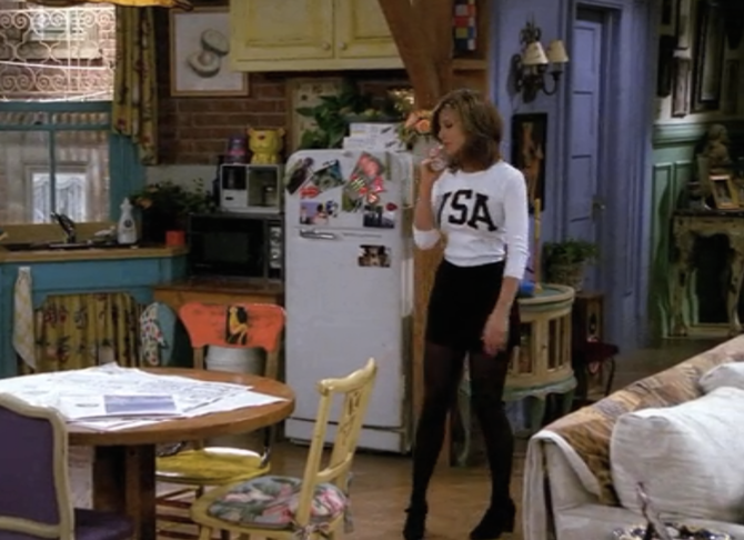 Rachel Green // USA Top and Shorts