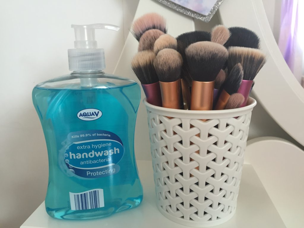 Hand Soap and Dirty Brushes