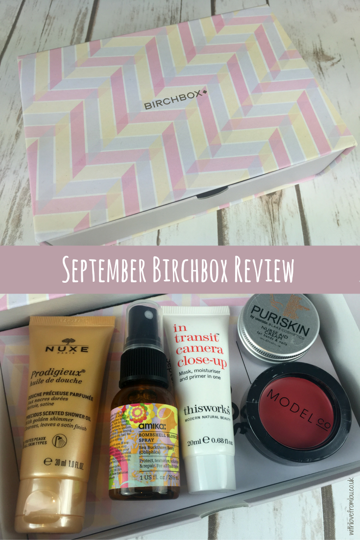 Birchbox Review - September 2016