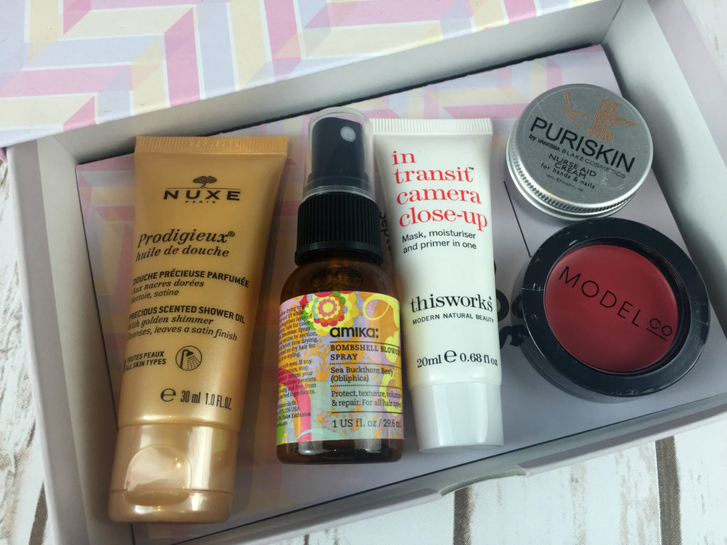 Contents of September Birchbox