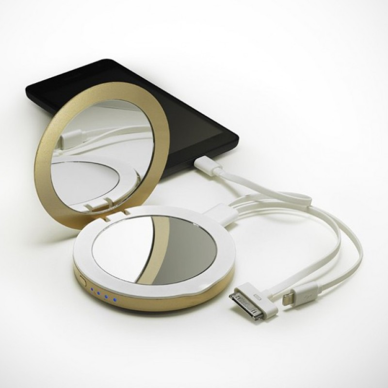 Hyper Pearl Compact Mirror & USB Battery Pack