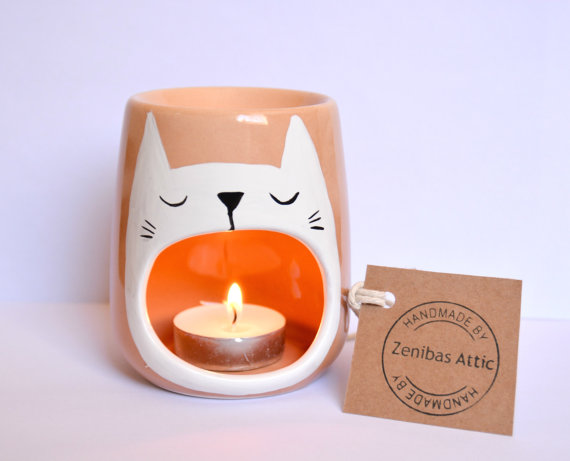 Sleepy Cat Oil Burner
