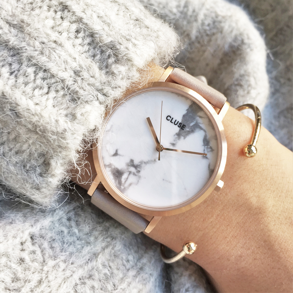 Cluse La Roche Rose Gold & Marble Watch