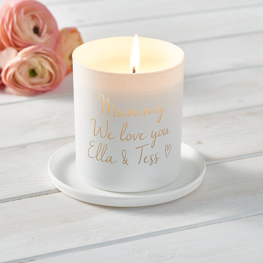 Personalised 'Love You Mummy' Candle