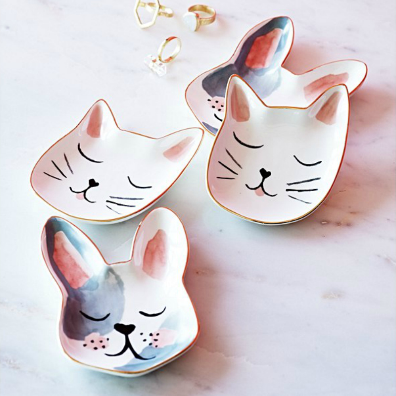 Oliver Bonas Cat & Dog Trinket Dishes