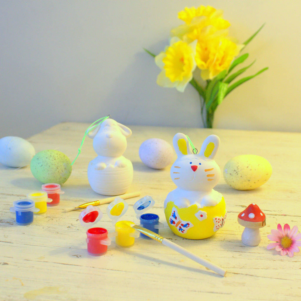 Paint Your Own Easter Decorations - Not on the High Street