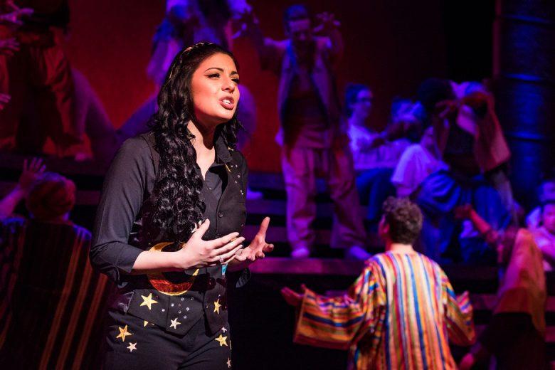 Lucy Kay as the Narrator - Joseph UK Tour 2017