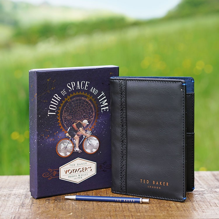 Ted Baker Space and Time Travel Wallet and Pen Set