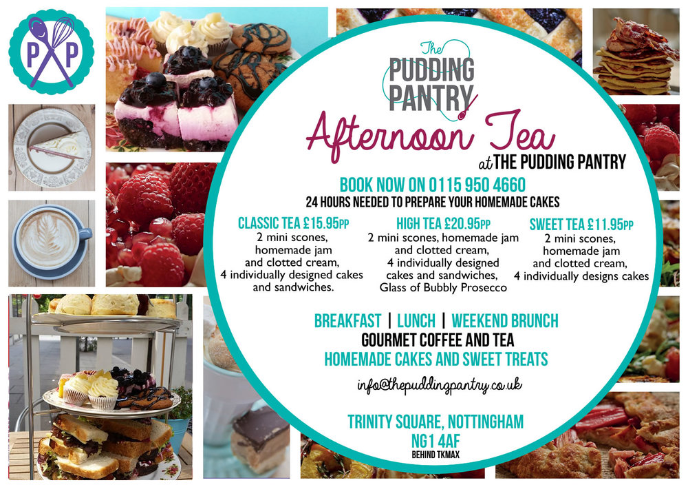 Afternoon Tea at The Pudding Pantry, Nottingham