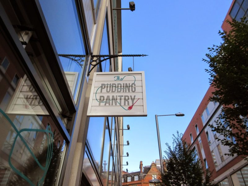Outside The Pudding Pantry, Nottingham