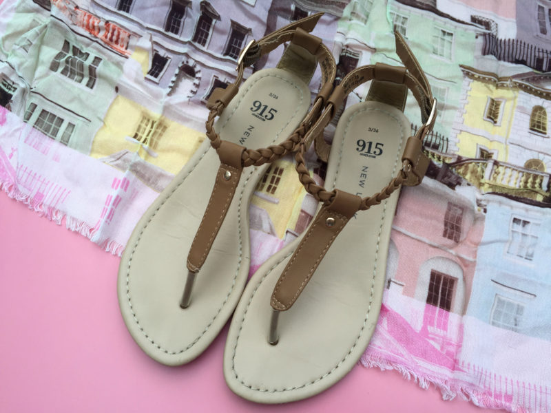 New Look Teens Tan Plait Sandals