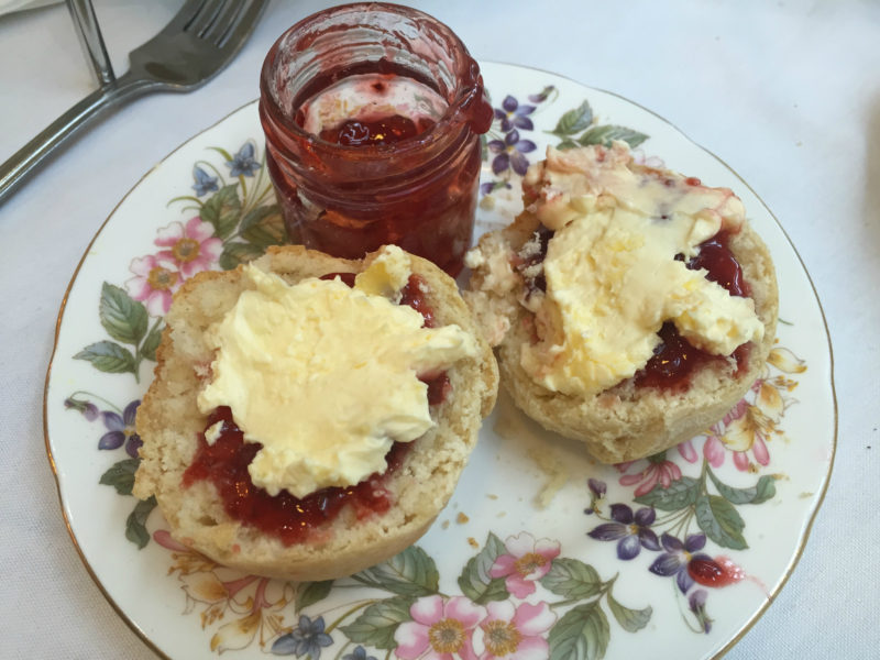 Vanilla Scones with Jam and Cream at The Pudding Pantry