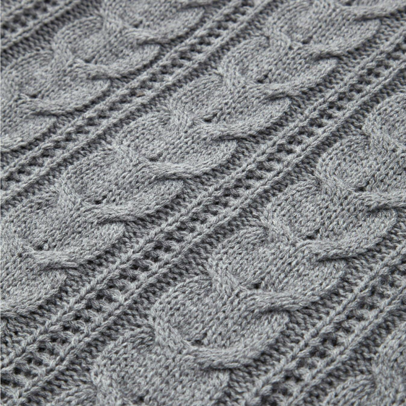 Chunky Knit Throw in Charcoal