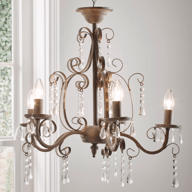 Florence Chandelier in Antique Grey