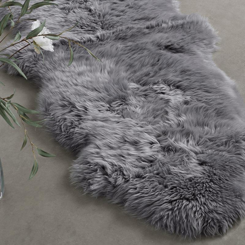Sumptuous Sheepskin Double Rug in Grey