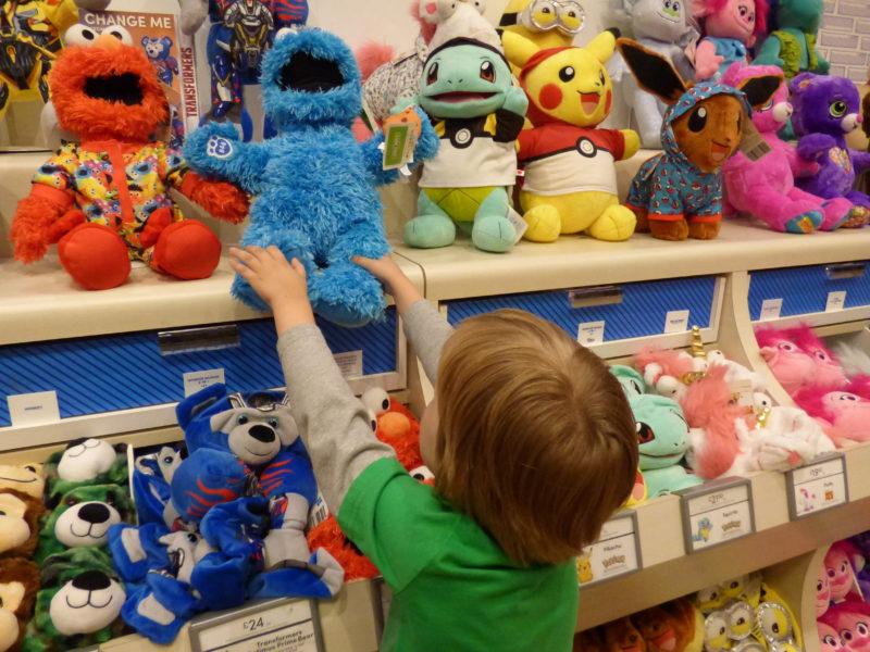 Lots of Bears to choose from, but Oscar knows which one he wants ...
