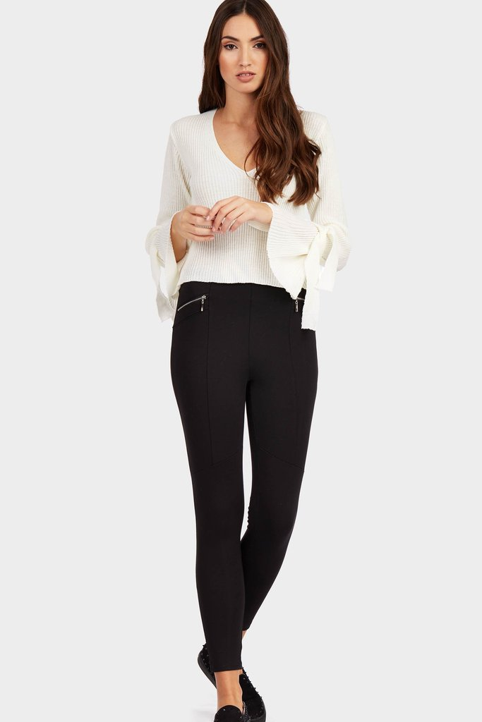 Black Zip Pocket Trousers