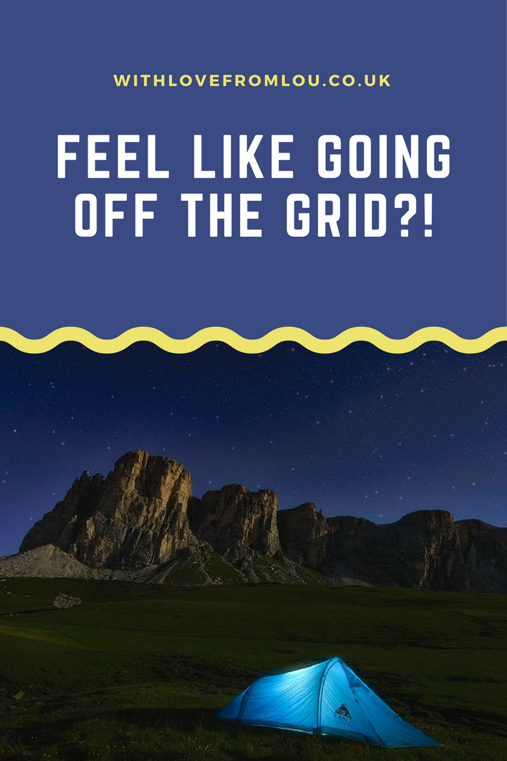 Feel Like Going Off The Grid?