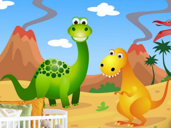 Fun Dinosaurs Wall Mural