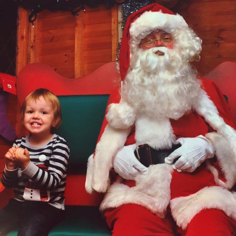 Oscar Visiting Santa