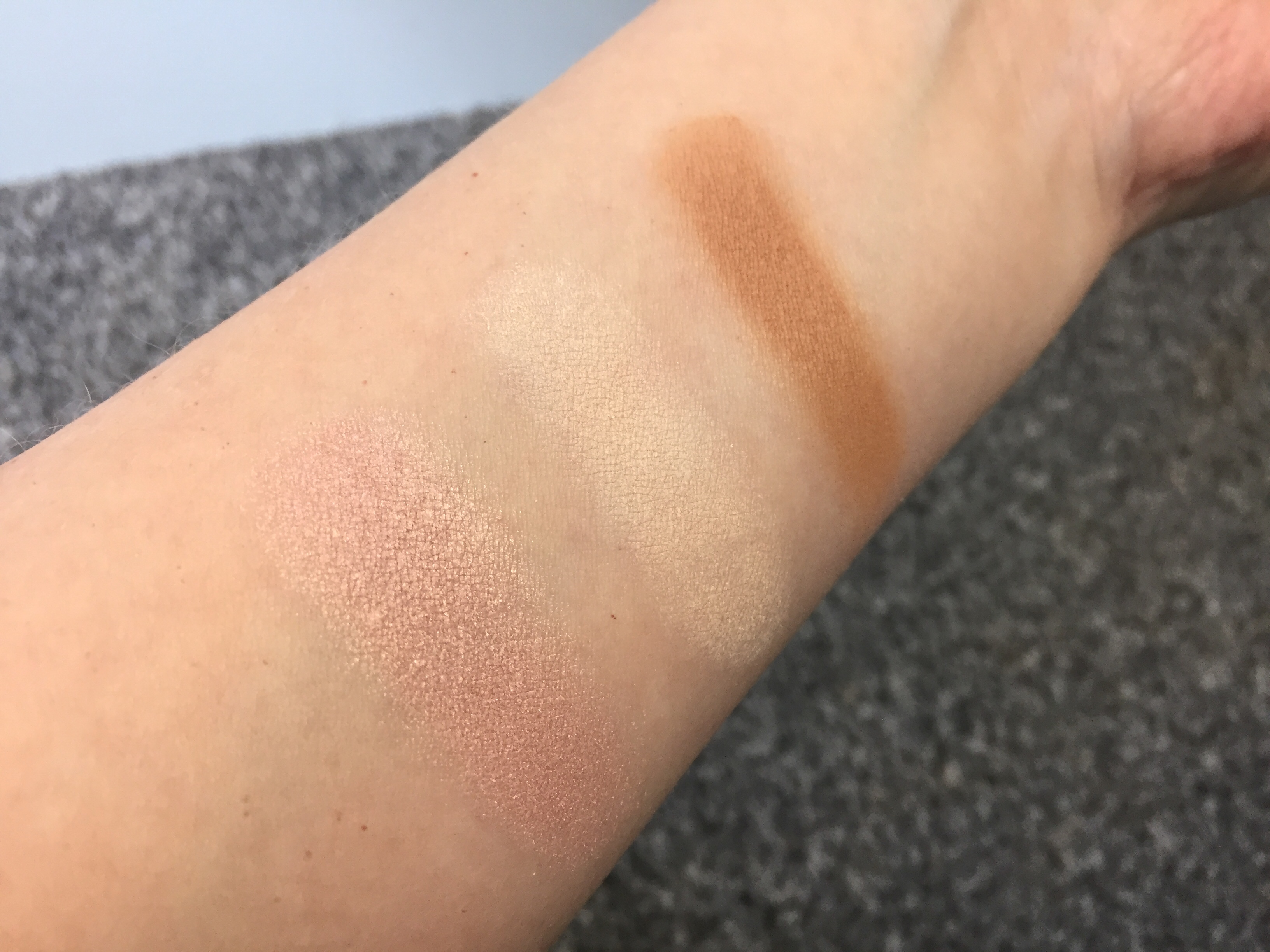 Barry M Feeling Cheeky Sculpting Palette Swatches