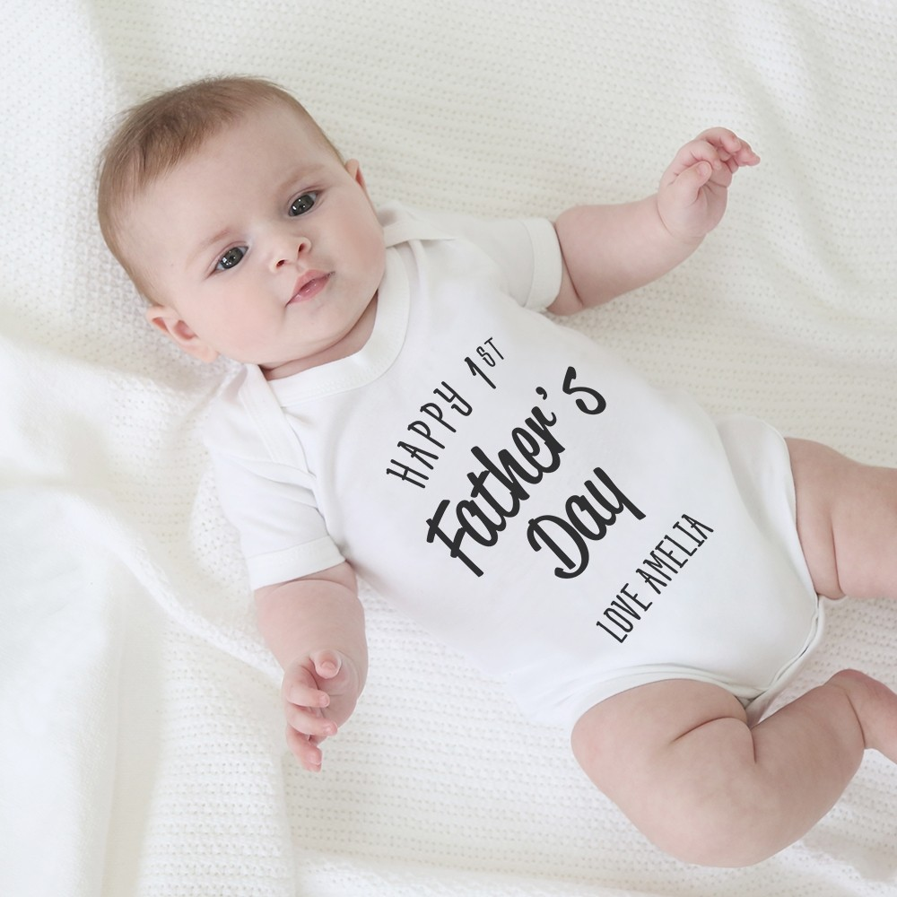 Personalised 1st Father's Day Bodysuit