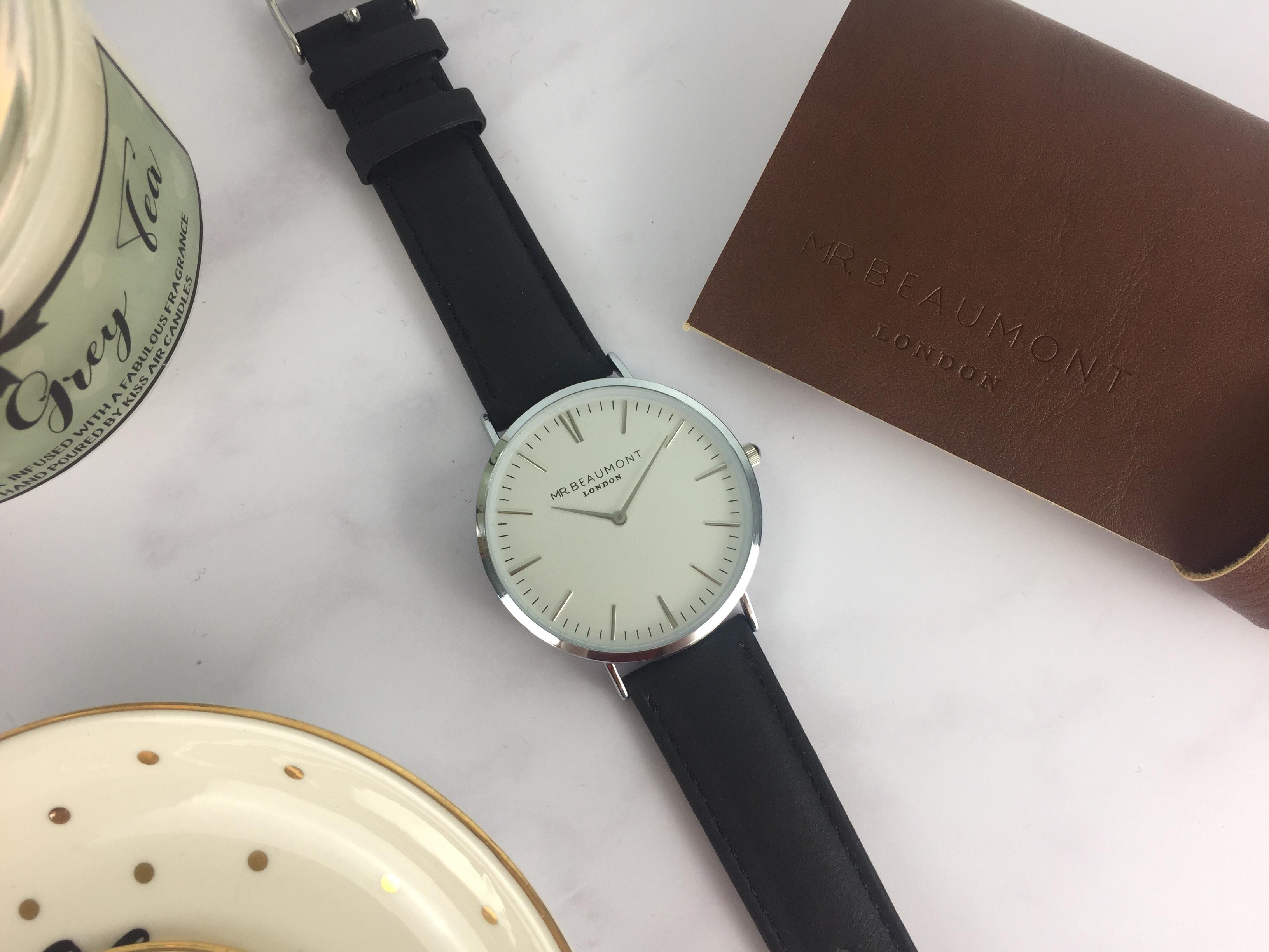 Black Modern-Vintage Personalised Leather Watch