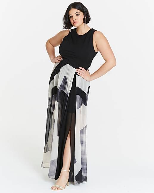 Simply Be Geo Print Maxi Dress